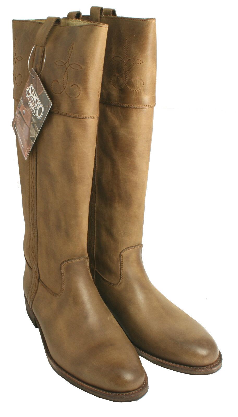 Botas cowboy Unisex Knee High Sancho estilo 8202 tabaco UE tamaño 41 (tamaño de Reino Unido 7)