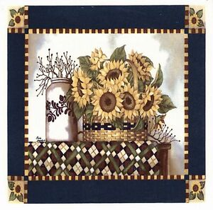 1-Sunflower-Square-6-034-X-6-034-Waterslide-Ceramic-Decal-Xx