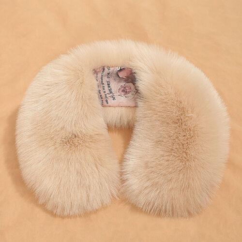 Winter Women Faux Fur Scarf Shawl Wrap Collar Cape Scarves Warm Stole Scarf