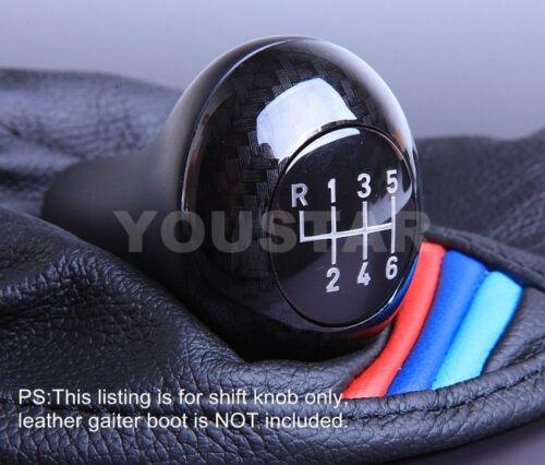 Luxury  1x CARBON EFFECT 6 Speed M//T Manual Gear Knob for BMW 1 3 5 Z X Series
