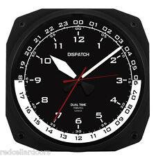 "TRINTEC ZULU CLOCK 12 & 24 HOUR DUAL TIME UTC MILITARY  Instrument Clock 10"""