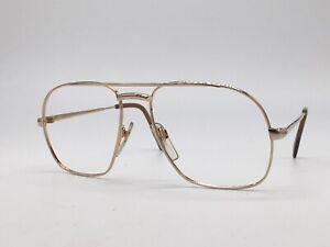 METZLER-True-Vintage-Brille-7720-Aviator-Gold-W-Germany-Design-1980er-Medium