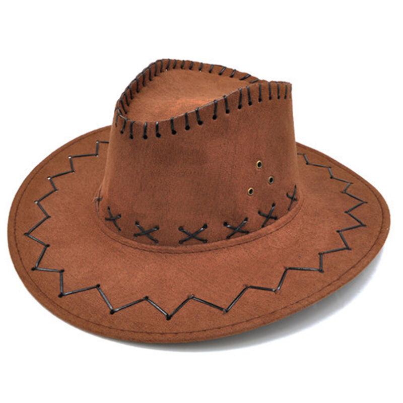 Unisex Cowboy Bucket Brim Western Knight Hat with Cord Felt Fancy Wide BrimBIJS
