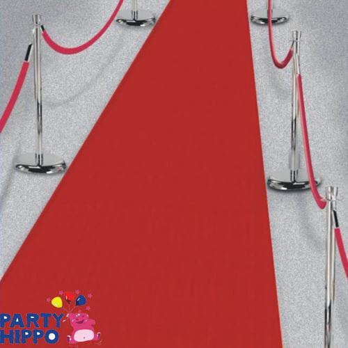 Red Hollywood Carpet Roll Scene Setter Casino Floor Runner Party Decoration