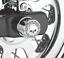 Harley willie g skull rear axle nut cover kit softail dyna fatboy flstc 41706-09