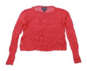 Ralph-Lauren-Womens-Size-8-10-Cotton-Red-Jumper-Regular