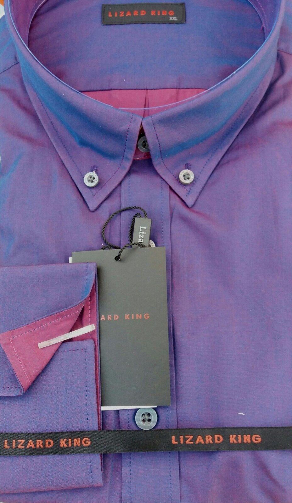 Mod  BusCoche Lizard King púrpuraa Dos Tonos Tonic Camisa LK17241KS  para barato