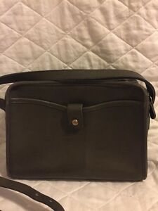 vintage coach handbag olive green leather crossbody style 2228 ebay. Black Bedroom Furniture Sets. Home Design Ideas