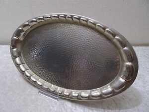 DDR-Aluminio-Servir-Bandeja-Vintage-Alrededor-De-1970-Hammerschlag-Design