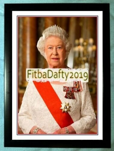 Divers Elizabeth II la reine famille royale A4 encadrée photographie couleur