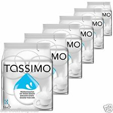 6 X Tassimo Leche Crema T Disc Cápsulas-para el café negro 6 paquetes, 96 T-Disc