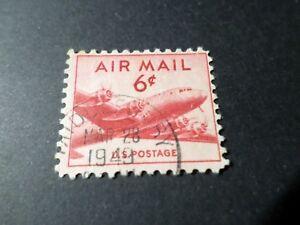 ETATS UNIS, USA, timbre AERIEN 35 POSTE AERIENNE AVION oblitéré VF used AIRMAIL