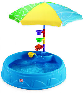 Step2-Play-and-Shade-Kiddie-Swimming-Pool-Durable-Poly-Plastic-Includes-And