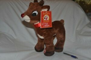 RUDOLPH-The-Red-Nosed-Reindeer-Stuffed-Animal-Plush-Toy-Working-sounds-and-light