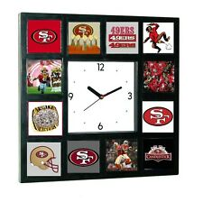 History of San Franciso 49ers logo Clock with 12 pictures