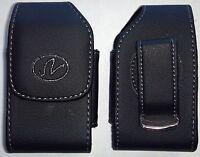 V078 At&t Zte Z222 Vertical Flip Phone Pouch Case Holster W/ Rotating Belt Clip