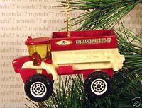 Seeding Sowing Machine 4x4 Farm Tractor Farming Christmas Ornament Dark Red Xmas