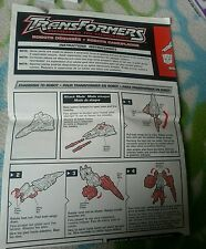 Transformers RID VEHICON 3 PACK INSTRUCTION BOOKLET