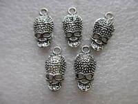 10pcs Tibetan Silver Skull Charms/Pendants 16mm - Jewellery Making/ Crafts -