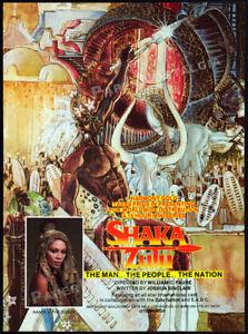 SHAKA-ZULU-Original-1984-Trade-print-AD-promo-EDWARD-FOX-CHRISTOPHER-LEE-1986