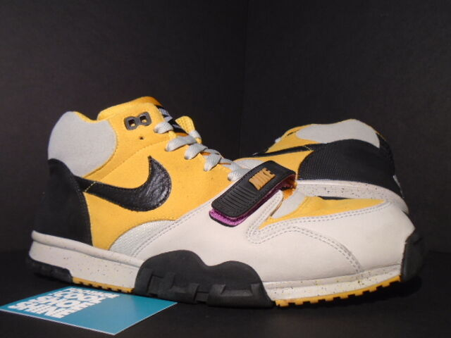 2007 Nike Air TRAINER 1 TECH PACK GRANITE GREY BLACK gold LEAF PINK YELLOW 10.5