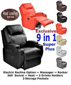 New-Real-Leather-Cinema-Massage-Rocking-Swivel-Nursing-Gaming-Recliner-Chair