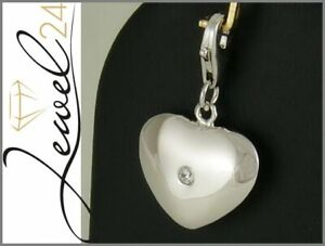 Charms-Anhaenger-echt-Silber-925-Sterling-rhodiniert-Herz-mit-Zirkonia-Einhaenger