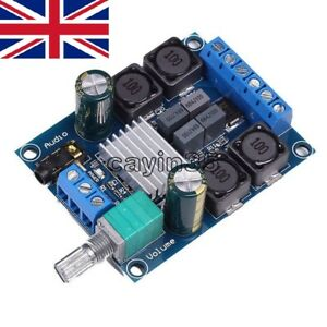 4.5V-27V TPA3116 D2 50W+50W Dual Channel Digital Power Amplifier 50Wx2 Stereo UK