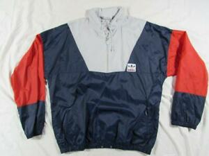 Details about Vtg 80s 90s adidas Rainbow Trefoil Windbreaker Jacket Running Sz M Windrunner
