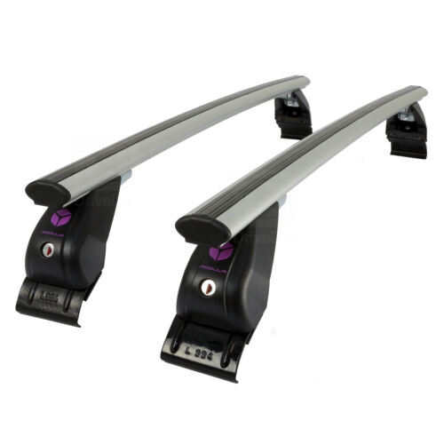 Modula Aluminium Aero Roof Bars Set Citroen C3 Mk.3 17-19 Non Rail Lockable Pair