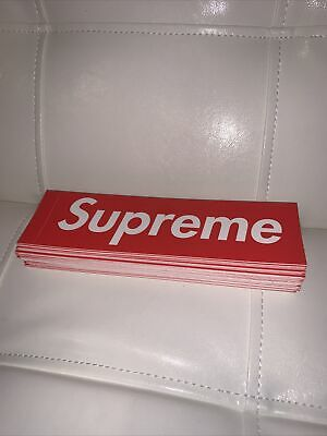 SupremeRed Box Logo Sticker 100/% Authentic  1 PER TRANSACTION MUTLIPLE ALLOWED