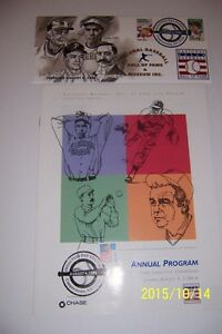 1996-Hall-Of-Fame-INDUCTION-Program-First-Cover-Cachet-EARL-WEAVER-Jim-BUNNING