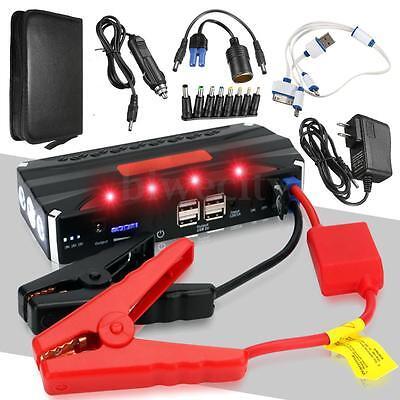 12V 68800mAh 4USB Multi-Function Car Jump Starter Power Bank Rechargable Battery