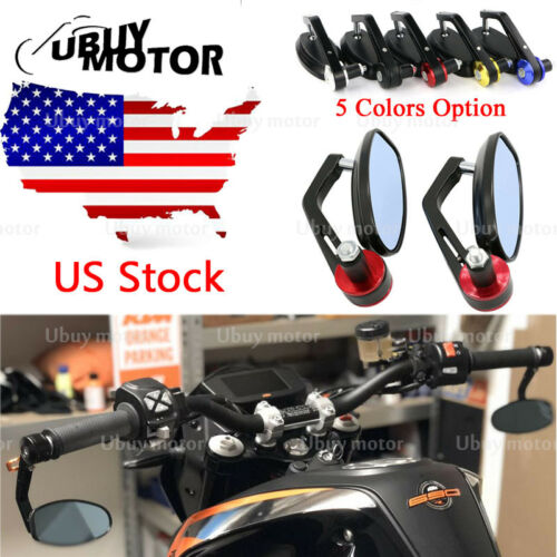 """7//8/"""" Rear View Side Mirror Handle Bar End Side Rearview For Yamaha YZF R1 YZF-R6"""