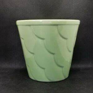 Vintage Mid Century Modern Scalloped Pastel Green Alamo Pottery Planter 829-6