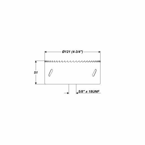 """HSS BiM Ø 121 mm Bohrtiefe 45 mm Lochsäge Bohrkrone 5//8/"""" x 18UNF für Metall Holz"""