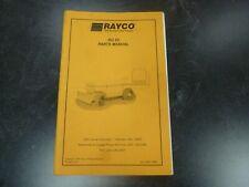 Rayco Rg 85 Stump Grinder Cutter Parts Catalog Manual Book