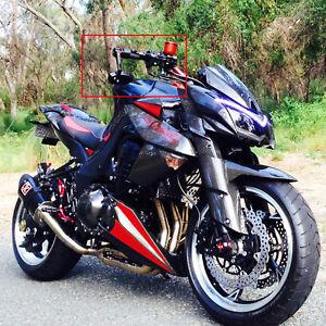Universal Black Motorcycle Handle Bar End Side Mirrors For Kawasaki