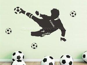 Das Bild Wird Geladen Wandtattoo Wall Decal Sticker Fussball Fussballer  Fussballspieler Mit