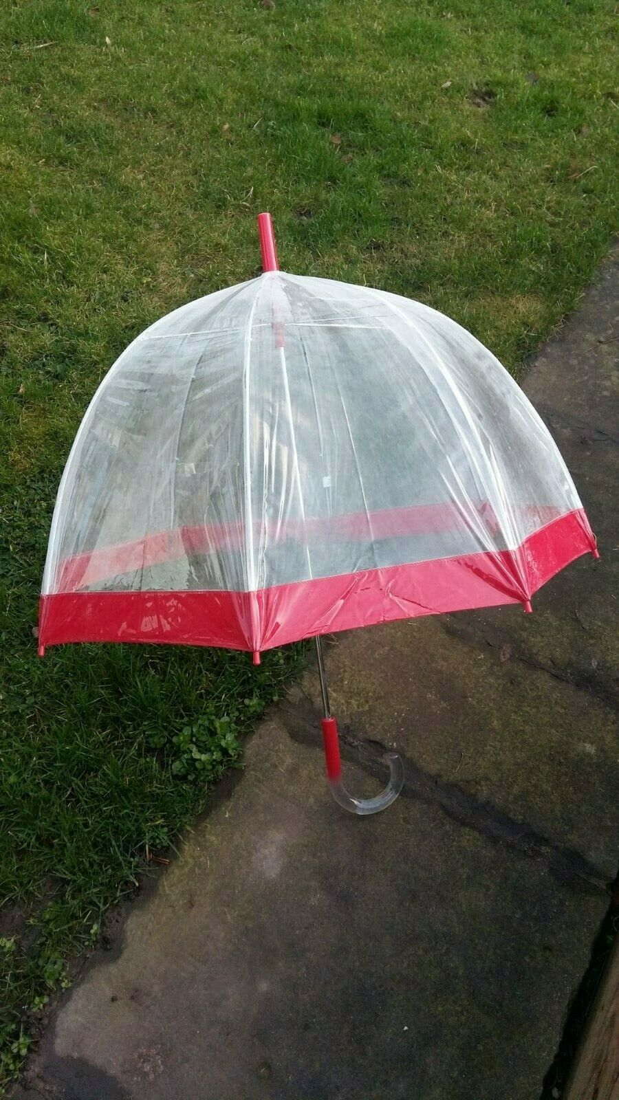 8 Quality Dome Totes PVC Wedding umbrellas bordered in red