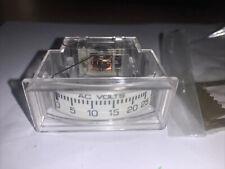 Modutec Jewell Instruments Analog Ac Volt Meter Me Avv 025u 0 25vac New