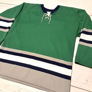 Athletic-Knit-Hartford-Whalers-Colors-Hockey-Jersey-Medium-Green