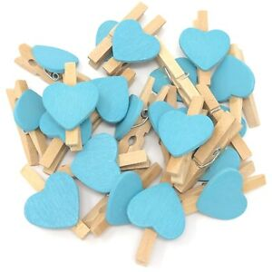 30mm Mini Clothes Pegs with 20mm Butterflies Craft For Shabby Chic Wedding Decor