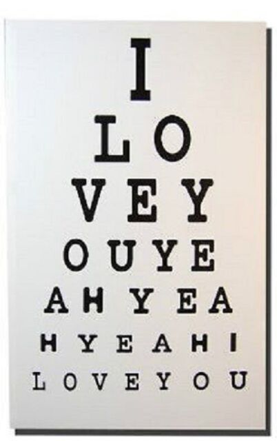 Valentines Eye Test Canvas Wall Art 3d Picture The Beatles I Love ...