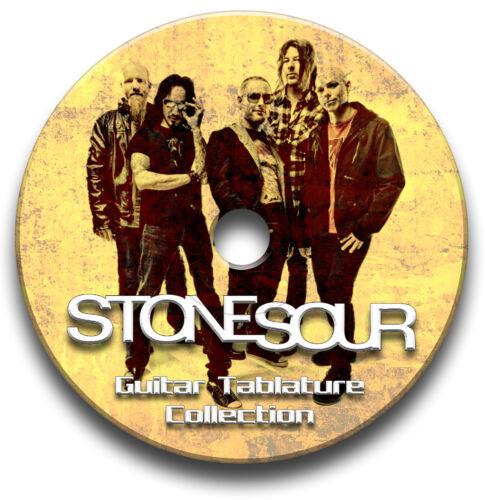 STONE SOUR ROCK METAL GUITAR TABS TABLATURE SONG BOOK SOFTWARE CD