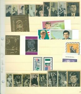 JOHN-F-KENNEDY-AND-FAMILY-SET-OF-28-STAMPS-MNH