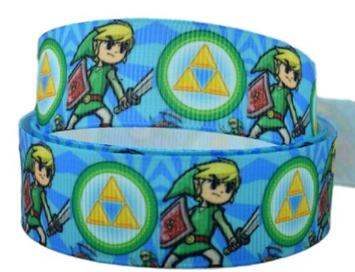 """The Legend of Zelda Link 1/"""" Wide Repeat Ribbon Sold in Yard Lots USA SELLER"""