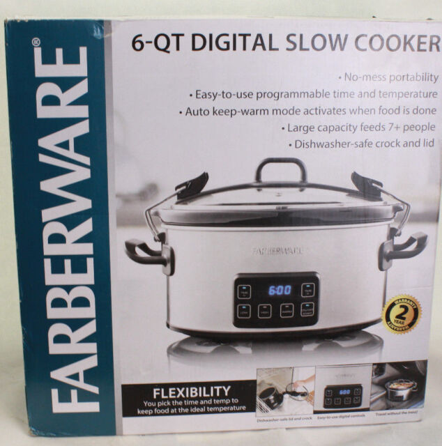 Farberware 6-Quart Programmable Digital Slow Cooker with Locking Lid