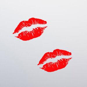 x2-Lips-Kiss-Sticker-Decal-Vinyl-Window-Bumper-Funny-Car-Van-Sexy-Girl-JDM-Euro