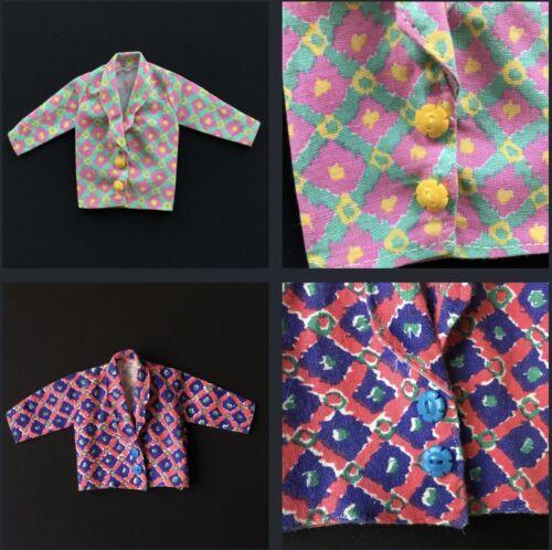 "Sindy FASHION MIXER 1987 blu rosa quadrati Baggy Bambola Jacket 8600 Fit 12/"" doll"